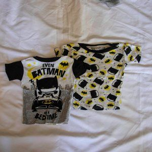 Lot Of 2 Batman Toddler Boys Sleep Shirts 3T